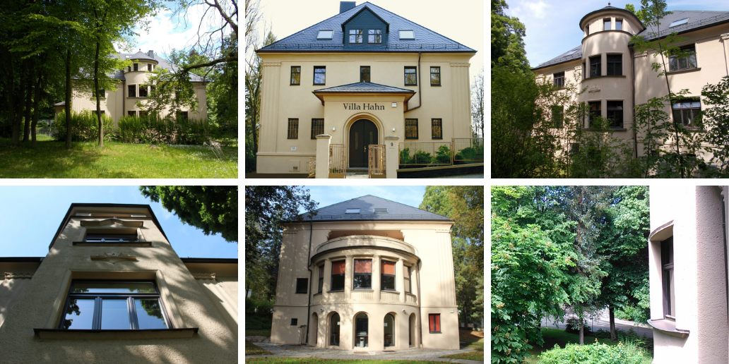 Villa Hahn | The Villa Hahn is an important element of the overall historical villas ensembles of the Chemnitz city part Kapellenberg, the former Stollberger Quarter as the area was once called.